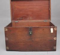 19th Century Teak & Brass Bound Military Trunk (10 of 10)