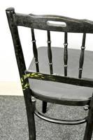 Bentwood Vintage Ebony / Black Floral Print Chair (8 of 9)