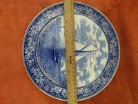 """1901 Wedgwood Etruria Queensware """"The Lillie off Telegraph Hill"""" Boat Plate (2 of 5)"""