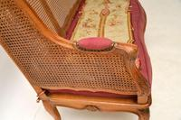 Antique French Carved Walnut Bergere Sofa (4 of 15)