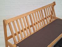 Danish Design by Børge Mogensen, Sofa Model 217, Completely Reupholstered 1970s, Furniture Wool, Oak (13 of 13)