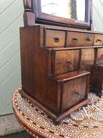 Antique Queen Anne Style Walnut Dressing Table Mirror (8 of 9)
