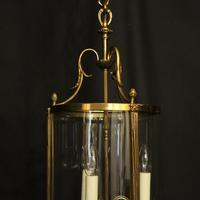 French Convex Gilded Triple Light Antique Lantern (3 of 10)