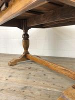 Early 20th Century Oak Draw Leaf Table (15 of 17)