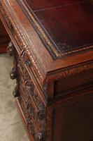 Carved Oak Pedestal Desk (7 of 19)