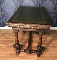 Victorian Carved Oak Library Table (11 of 25)