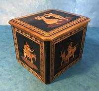 Victorian Italian  Sorento Ware Single Tea Caddy (5 of 16)