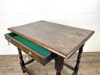 18th Century Antique Oak Side Table (9 of 11)