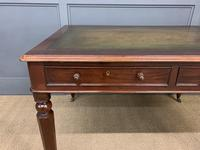 Victorian Mahogany 4 Drawer Partners Writing Table (5 of 13)