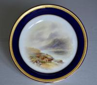 Royal Worcester 1914 Dish - Highland Cattle - Hand-painted by John Stinton (2 of 8)
