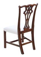 Set of 10 (8+2) Mahogany Georgian Revival Dining Chairs Ribbon Back c.1920-1950 (10 of 10)
