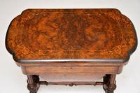 Antique Victorian Burr Walnut Games & Work Table (13 of 14)