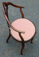 1920s Mahogany Corner Chair in Pink (2 of 3)