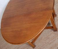 Oak Gateleg Dining Table Carved Solid Folding Kitchen Table (3 of 15)