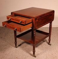 Pembroke Table In Mahogany & Inlay 19th Century - England (16 of 16)