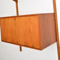 Danish Teak Vintage PS  Wall  System Bookcase Cabinet (4 of 9)