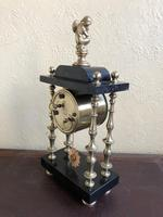 Rare Antique French Small Portico Alarm Clock (3 of 7)