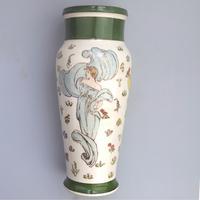 Margaret E Thomson : Royal Doulton Lambeth Faience Vase Mucha Style C.1900 (3 of 10)