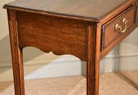 18th Century Oak Two Drawer Side Table (3 of 4)