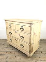 Small Antique Pine Chest of Drawers (7 of 9)