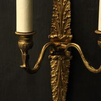 French Pair of Bronze Antique Wall Sconces (5 of 10)