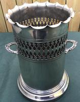 Victorian Silver Plated Two Handle Champagne /Wine Bottle Holder by Walker & Hall (3 of 3)