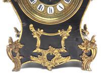 Fine French Ebony & Ormolu Boulle Mantel Clock – Farcot Skelton Dial 8 Day Mantle Clock (8 of 9)
