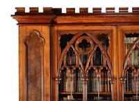 Exquisite victorian gothic pollard oak cabinet bookcase (2 of 2)