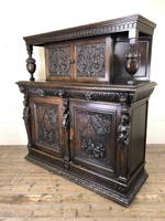 Antique 19th Century Carved Oak Court Cupboard (8 of 24)