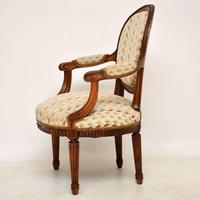 Antique French Carved  Walnut Salon Armchair (11 of 13)