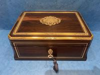 19th  Century French Brass Inlaid  Rosewood Box