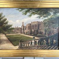 Antique Oil Painting Study of Haddon Hall Derbyshire Signed A E Richmond 1882 (3 of 9)