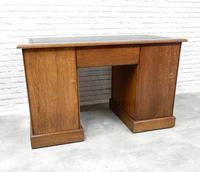 19th Century Oak Pedestal Desk (3 of 8)