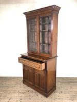 Antique 19th Century Two Stage Mahogany Bookcase (4 of 19)