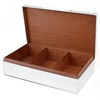 Large Edwardian Plain Silver Goldsmiths & Silversmiths Table Cigar Box (2 of 4)