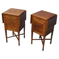 Pair of Thuya Wood Bedside Cabinets