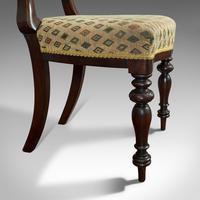 Antique Set of 6 Dining Chairs, English, Walnut, Balloon Back, Victorian c.1850 (8 of 12)