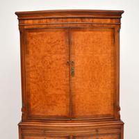 Antique Georgian Style Burr Walnut Cabinet (4 of 11)