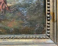 Large Superb Original 19thc West Sussex 'Tilgate Forest' Landscape Oil Painting (10 of 12)