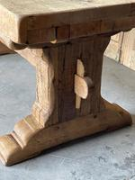 Superb Rustic Large Bleached Oak Farmhouse Table with Extensions (10 of 36)