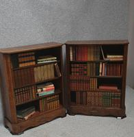 Pair of French Burr Walnut Open Bookcases (4 of 13)