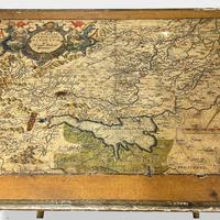 Italian Painted Nest of Tables with Map Prints (7 of 10)