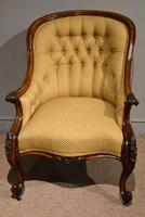 19th Century Carved Upholsterd Armchair (3 of 6)