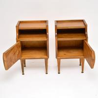 1960's Pair of Vintage Italian Walnut Bedside Cabinets (2 of 10)