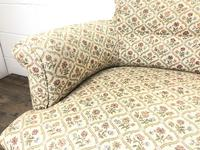 Victorian Three Piece Suite with Gold Floral Upholstery (4 of 26)