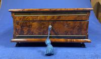Victorian  French Burr Cedar Jewellery Box with ebonised fruitwood and original interior (7 of 13)
