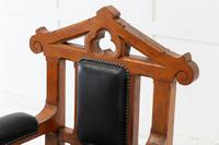 Late 19th Century Pair of Gothic Oak Armchairs (3 of 10)