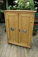 Lovely Old Stripped Pine Food Cupboard / Linen / Larder / Storage  - We Deliver! (4 of 9)