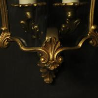 French Pair Of Gilded Bronze Half Lanterns (4 of 10)