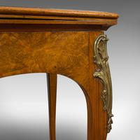 Antique Card Table, French, Burr Walnut, Fold Over, Games, Victorian c.1870 (11 of 12)